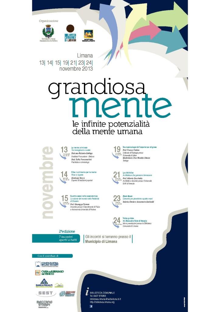 Locandina GrandiosaMente 2013