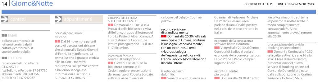 11 - 18 - Corriere delle Alpi