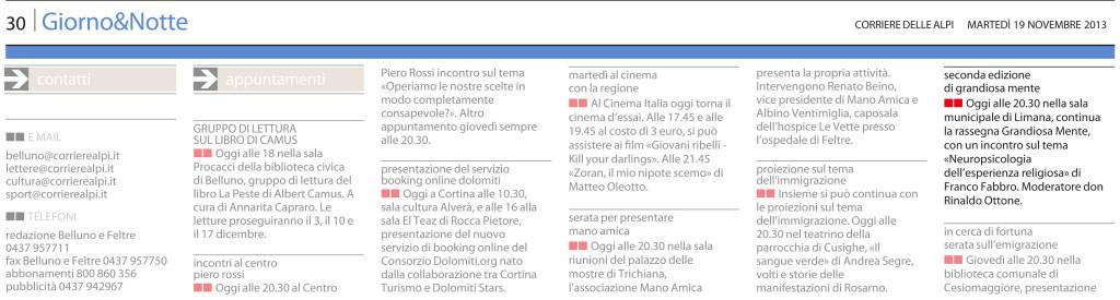 11 - 19 - Corriere delle Alpi