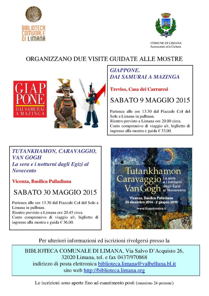 mostre a Treviso e Vicenza 2015