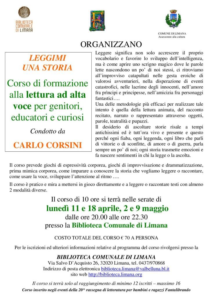 corso di lettura ad alta voce con Carlo Corsini